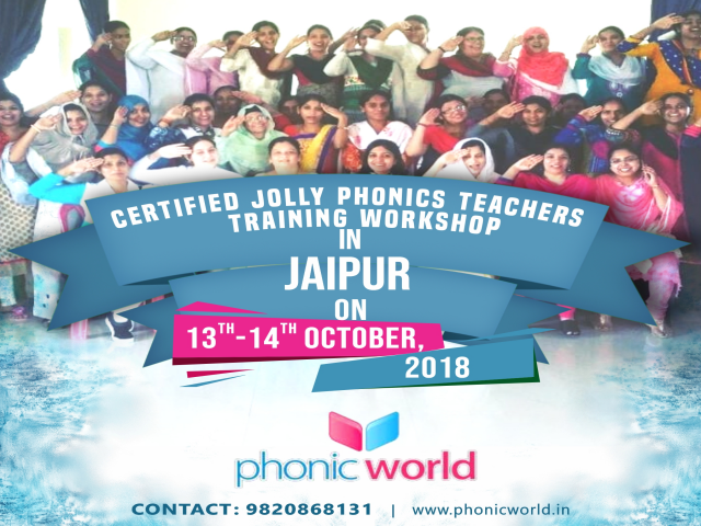 Upcoming Jolly Phonic Workshop Jaipur On 13th And 14th October