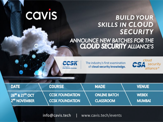 Build Your Skills in Cloud Security, Join Our Batches