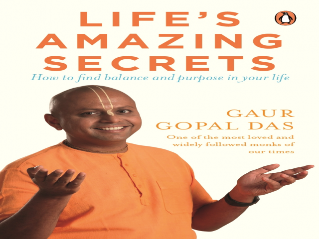 Gaur Gopal Das releases his first book 'Life's Amazing Secrets' at Crossword
