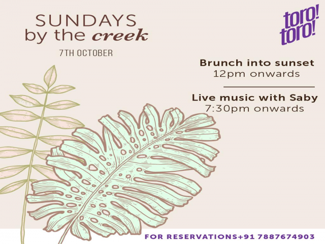 Sundays by the Creek 07th October 2018
