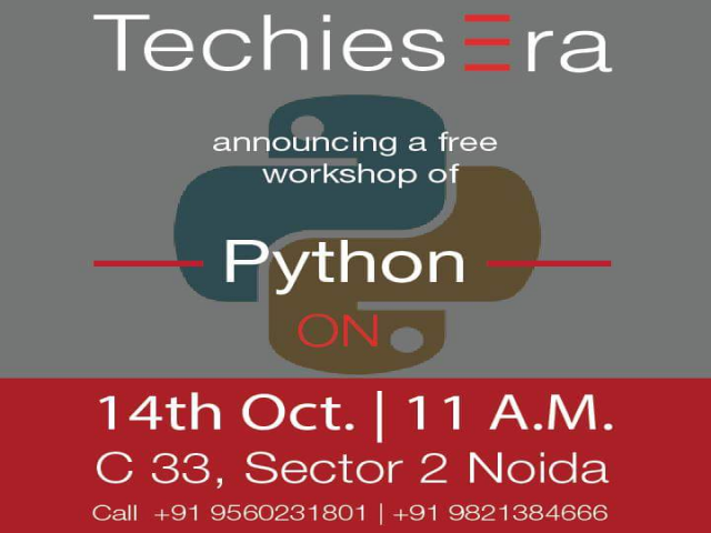 Free Python Workshop in Noida at TechiesEra