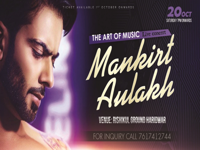 Live Musical Concert by Mankirt Aulakh in Haridwar, Mankirt Aulakh Live Concert