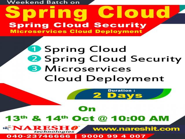 Spring Cloud Weekend Training in Hyderabad - NareshIT