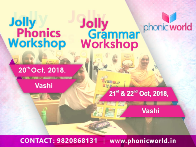 Upcoming Jolly Phonic Workshop Vashi on 20th October