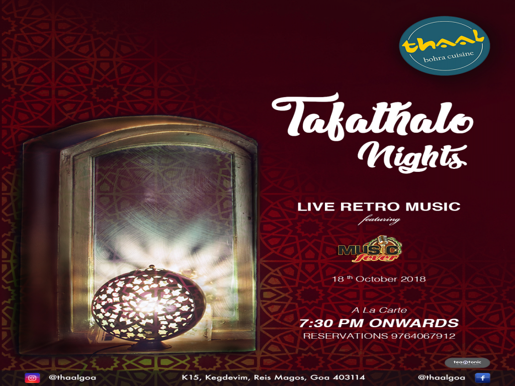 Tafathalo Nights18th October 2018