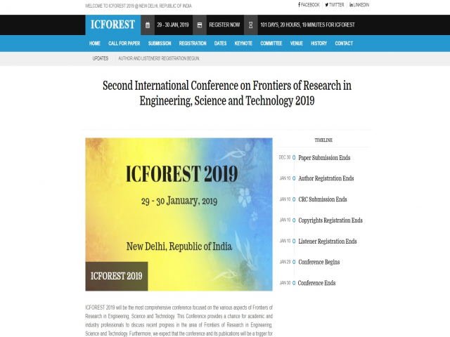 International Conference on Frontiers of Research in Engineering, Science and Te