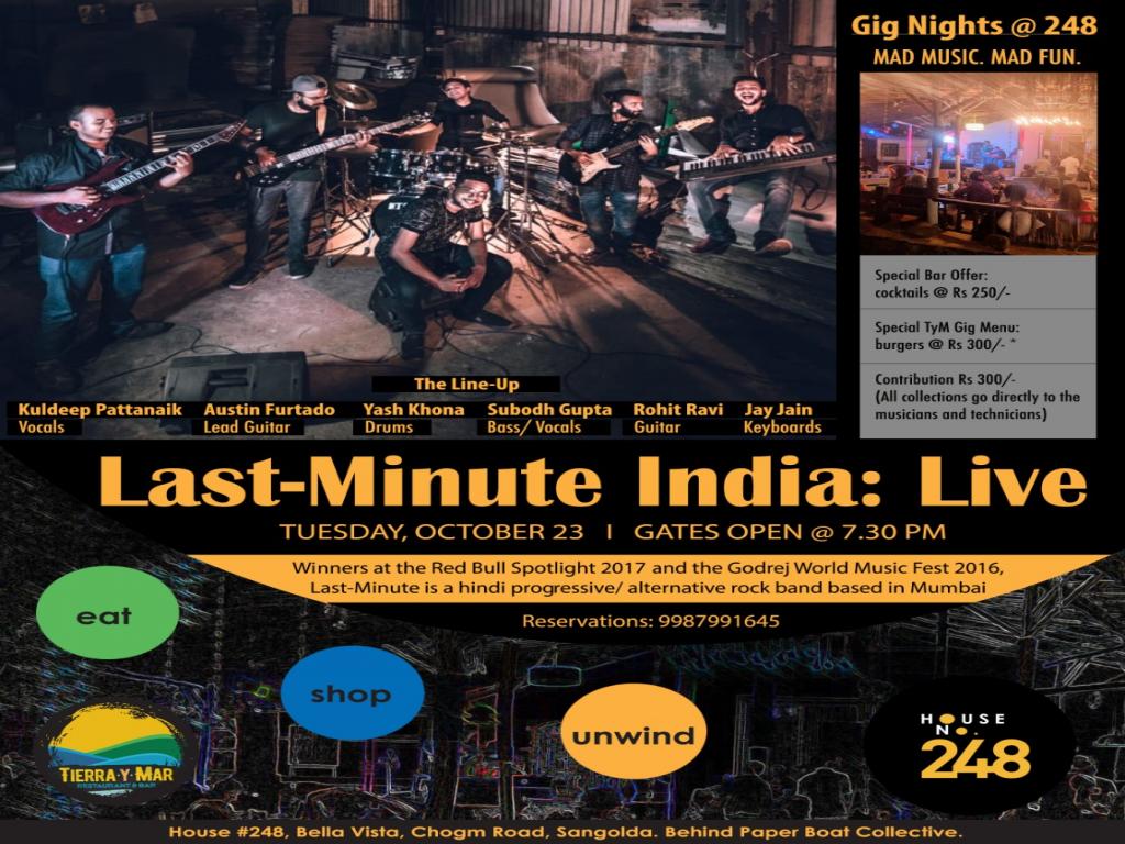 Last-Minute India: Live