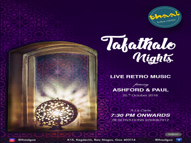 Tafathalo Nights 25th October 2018