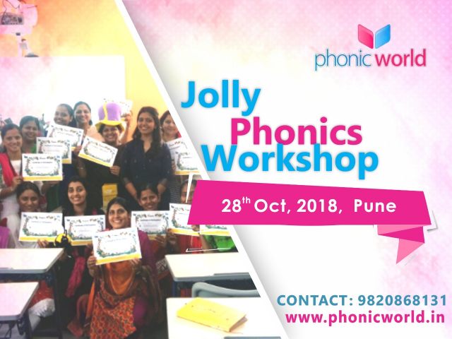 Upcoming Jolly Phonic Workshop Pune on 28th October