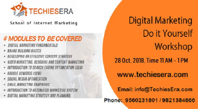 Free Digital Marketing Workshop in Noida at TechiesEra
