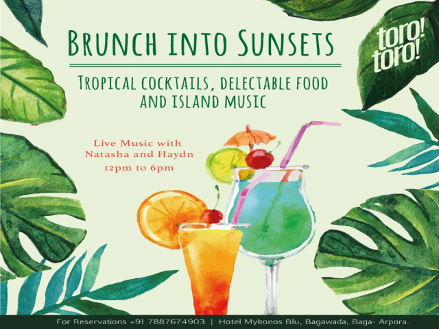 Brunch into Sunset 28th October 2018
