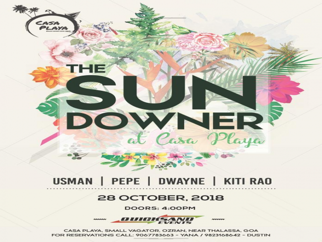 The Sundowner at Casa Playa 28th October 2018