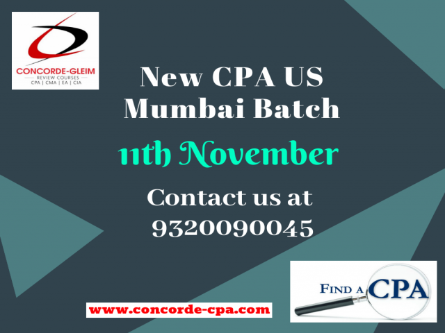 Upcoming CPA US Batch Mumbai on 11th November 2018