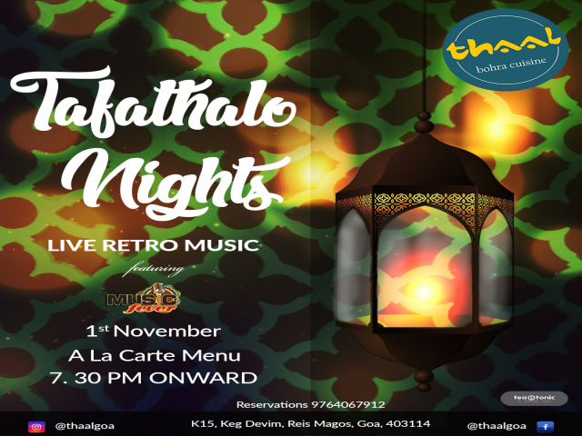 Tafathalo Nights 1st November 2018