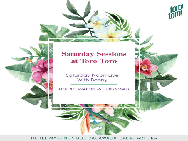 Saturday Sessions at Toro Toro 3rd November 2018