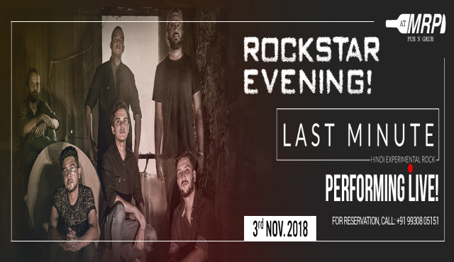 ROCKSTAR EVENING: LAST MINUTE BAND PERFORMING LIVE