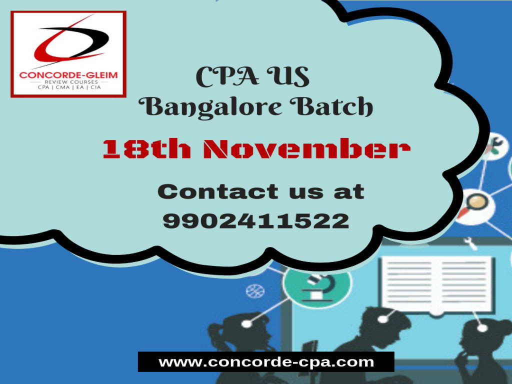 Upcoming CPA US Batch Bangalore on 18th November