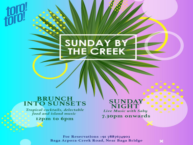 Sundays by the Creek! 11th November 2018