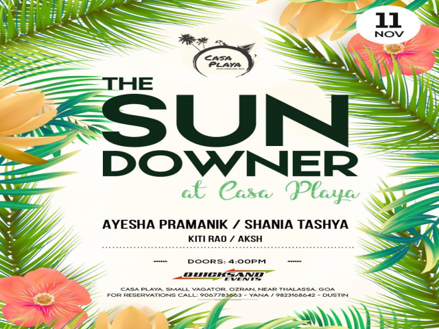 The Sundowner at Casa Playa 11th November 2018