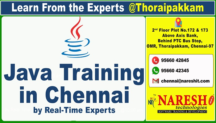 Best Java Training Institute in Chennai, OMR, Thoraipakkam - Naresh IT