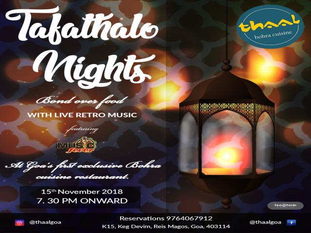 Tafathalo Nights 15th November 2018