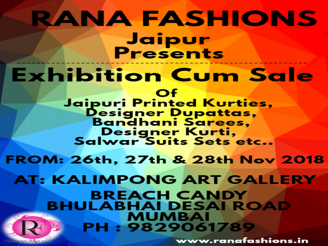 Exhibition Cum Sale By RANA FASHIONS Jaipur