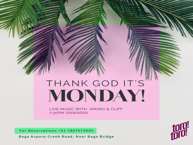 Thank God its Monday 19th November 2018