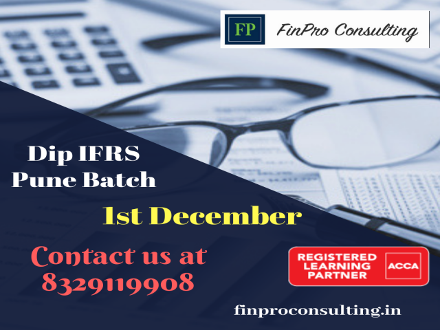 Upcoming Dip IFRS Pune Batch on 1st December