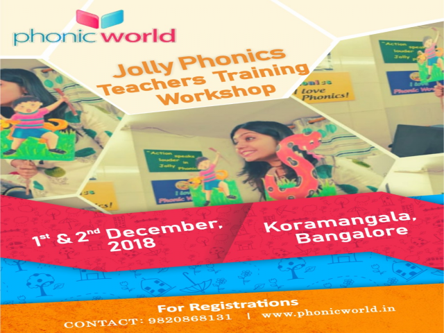 Jolly Phonics Workshop Bangalore on 1st and 2nd December