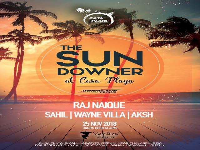 The Sundowner at Casa Playa 25th November 2018