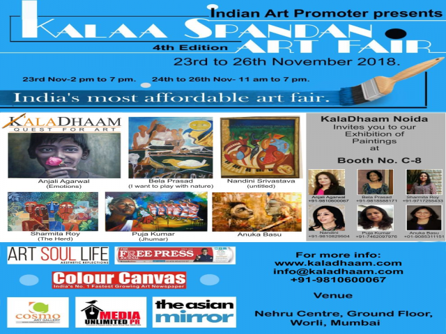 KalaDhaam Noida at Kalaa Spandan Art Fair 2018, Mumbai