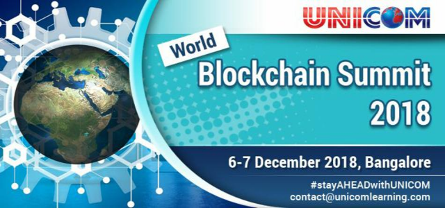 WORLD BLOCKCHAIN SUMMIT - 2018 BENGALURU