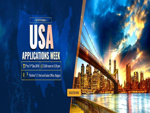 USA Applications Week at Krishna Consultants Nagpur - 5th to 11th Dec 2018