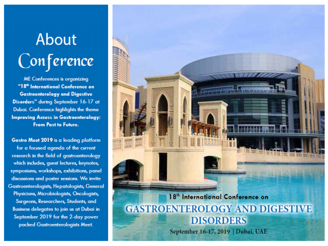 18th International Conference on Gastroenterology and Digestive Disorders