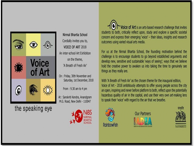 Voice of Art, an Inter-School Art Exhibition
