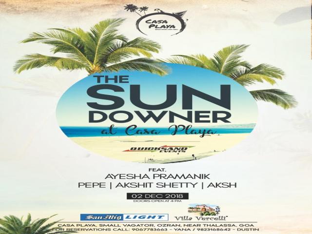 The Sundowner at Casa Playa 2nd December 2018
