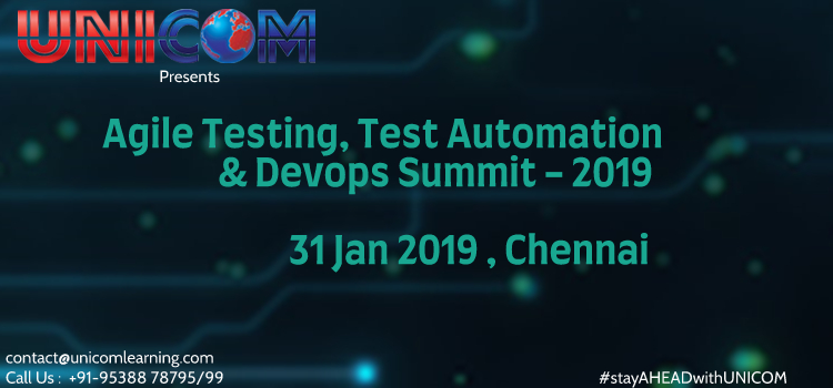 Agile Testing, Test Automation and Devops Summit 2019