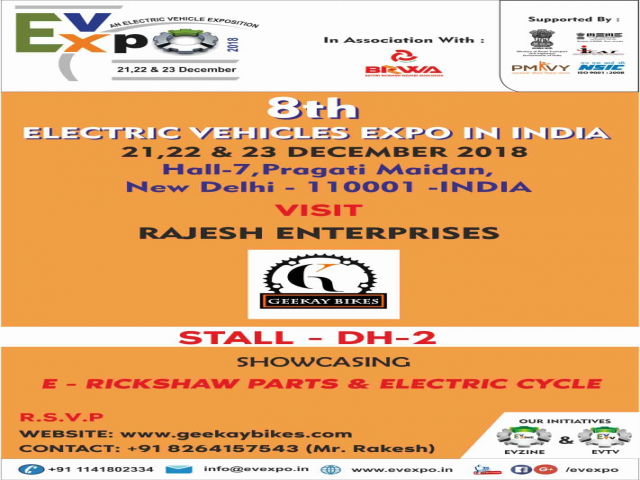 8th Electric Vehicles Expo in India