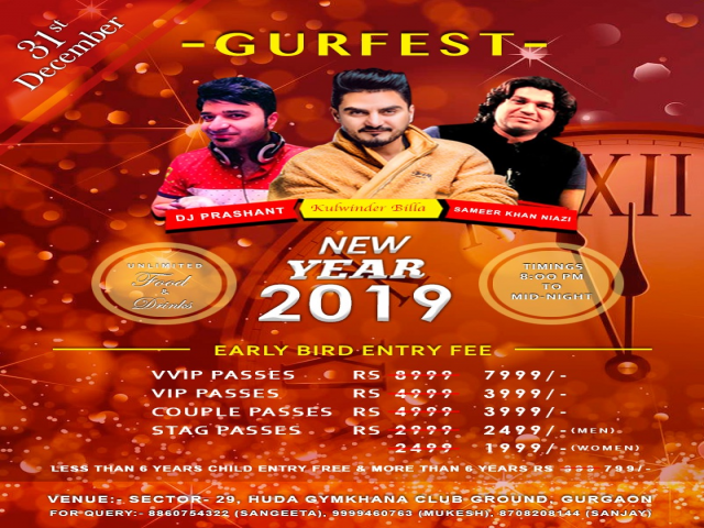 Gurfest - New Year Bash - 2019 - Live Performance Kulvinder Billa