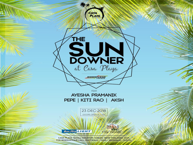 The Sundowner at Casa Playa 23rd December 2018