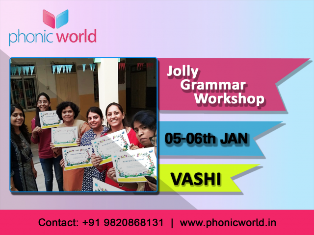 Upcoming Jolly Grammer Workshop Vashi