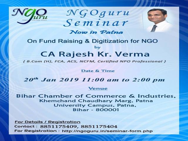 Seminar on NGO digitization and fund raising for NGO