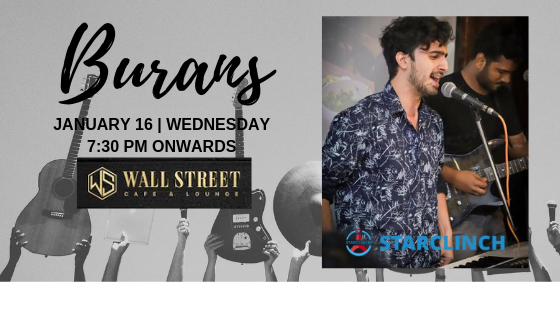 BURANS - Performing LIVE at 'Cafe Wall Street' Connaught Place