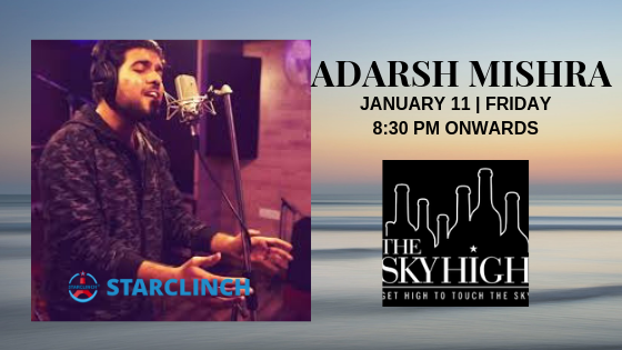 Adarsh Mishra - Performing LIVE at 'The Sky High' Ansal Plaza