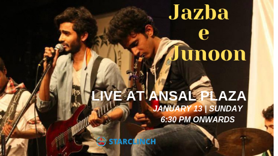 Jazba-e-Junoon Performing LIVE At 'ANSAL PLAZA MALL' ANDREWS GANJ