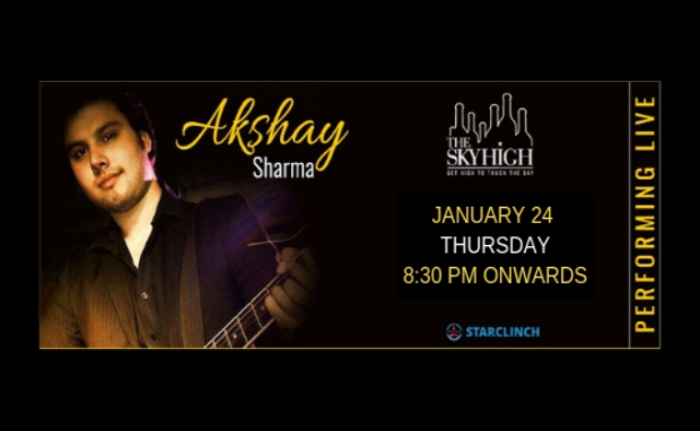 Akshay Sharma - LIVE at 'The Sky High' Ansal Plaza