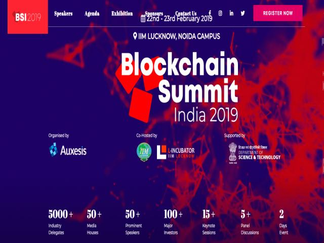 Blockchain Summit India 2019