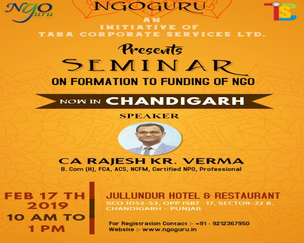 NGOguru Seminar on Formation to Funding of NGO
