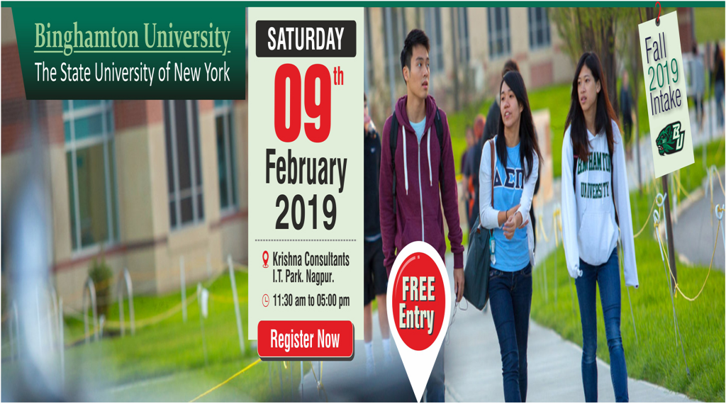Meet Binghamton University, USA in Nagpur - 9th Feb 2019