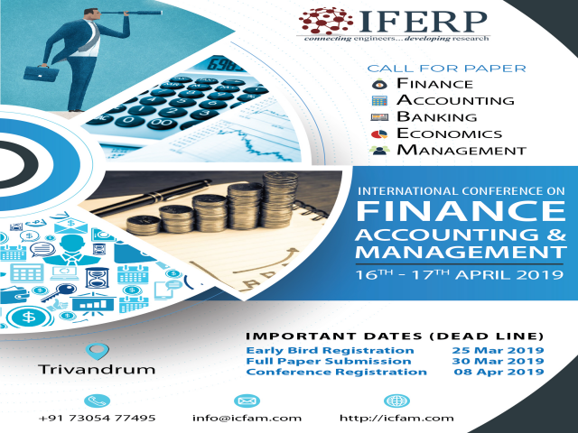 International Conference On Finance, Accounting & Management (ICFAM-19)